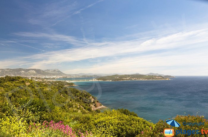 A panoramic view of La Seyne and Saint Mandrier in France