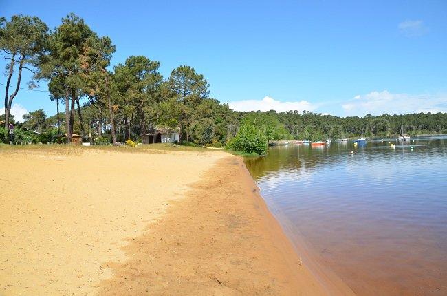 Lake of Lacanau in France