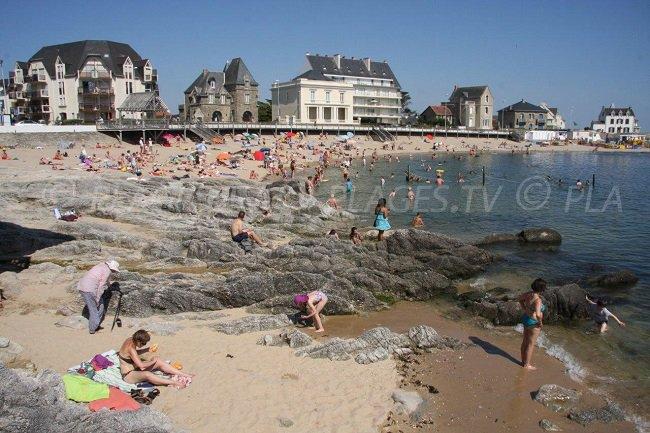 The beach of Port Lin in Le Croisic