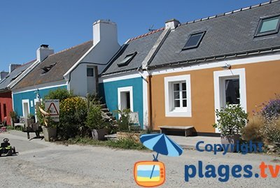 Maisons colorées de Locmaria à Belle Ile en Mer