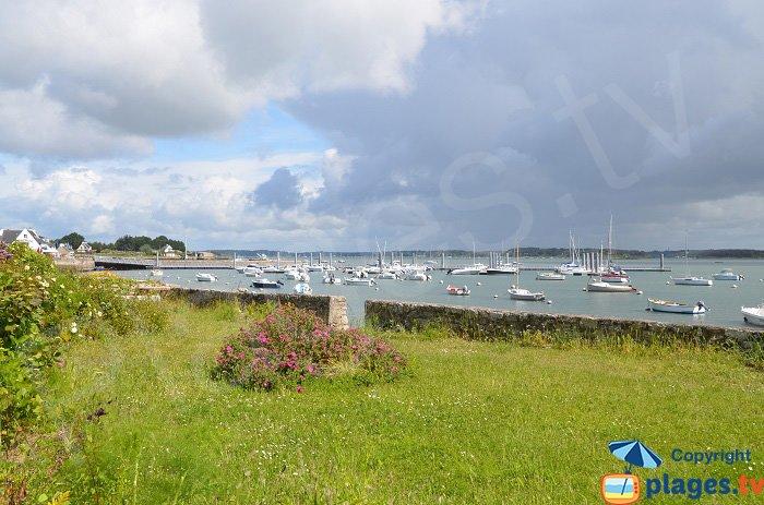 Vue sur le golfe du Morbihan depuis Locmariaquer