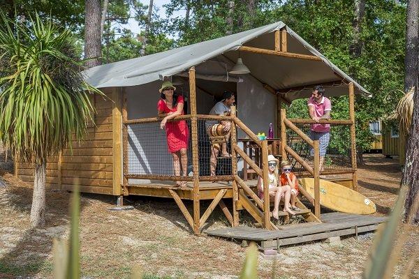 Safari Lodge au camping les Oyats à Seignosse