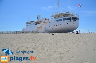 Paquebot Lydia sur la Grande Plage de Port Barcarès