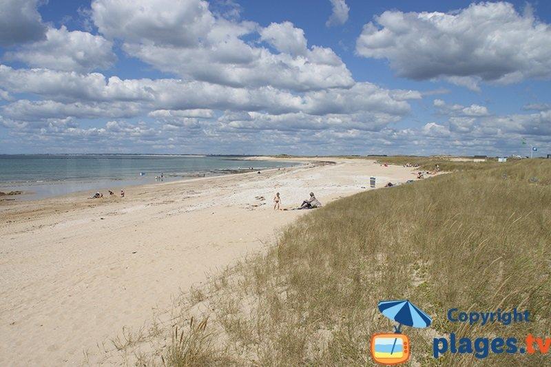 Grande plage de Magouero à Plouhinec