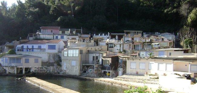 Maisons de pêcheurs à Toulon