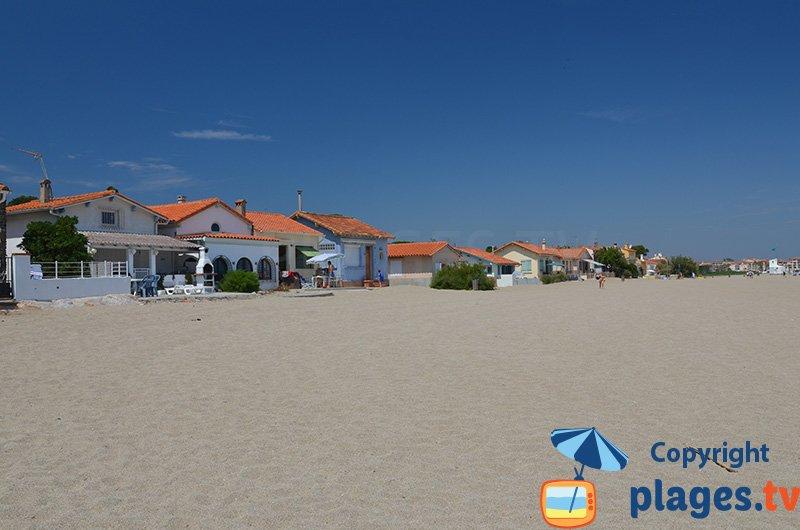 Maisons en bord de plage au Racou à Argeles
