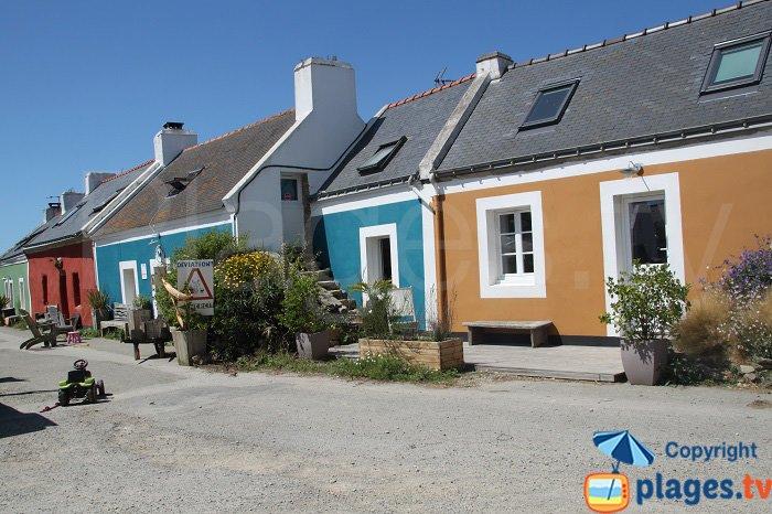 Coloured houses in Bangor