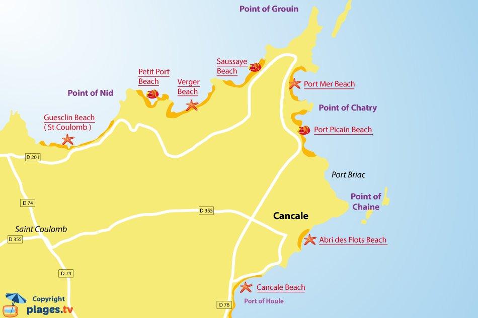 port mer beach in cancale ille et vilaine france. Black Bedroom Furniture Sets. Home Design Ideas