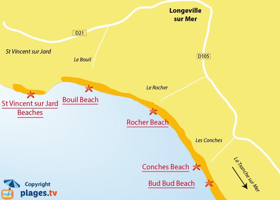 Map Of France Vendee.Beaches In Longeville Sur Mer France 85 Seaside Resort Of