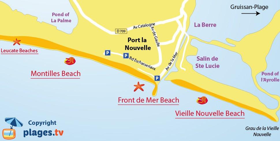 Montilles beach in port la nouvelle aude france - Windfinder port la nouvelle ...