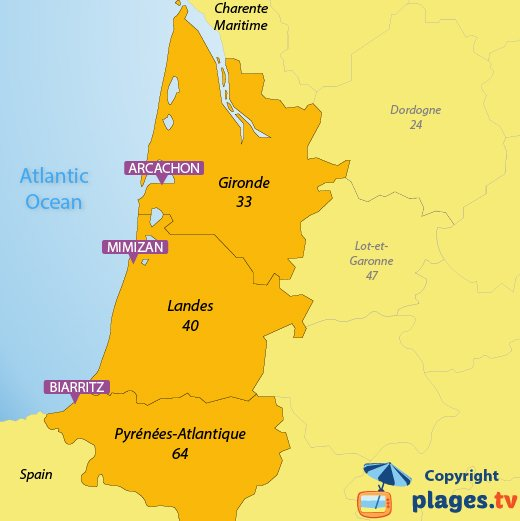 Beaches In The Aquitaine Region In France The Seaside Resorts Of