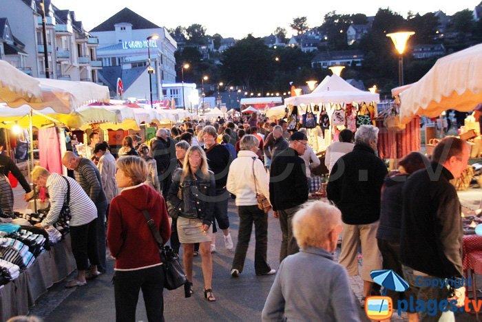 Night market in Perros Guirec
