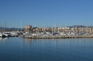 Marina of Cogolin in France