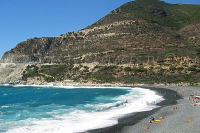 Beach in Marine of Albo (Cap Corse)
