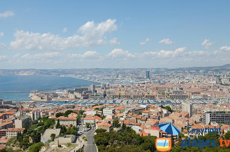 Marseille vue depuis Notre Dame