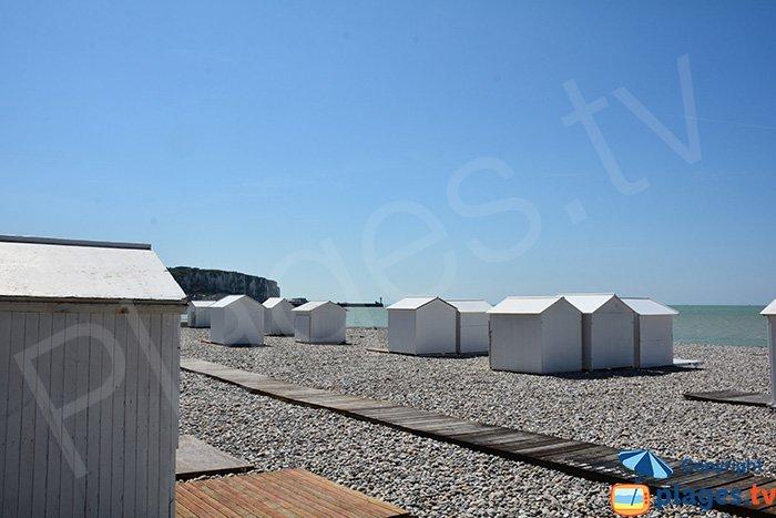 Cabines de bains sur la plage de Mers les Bains