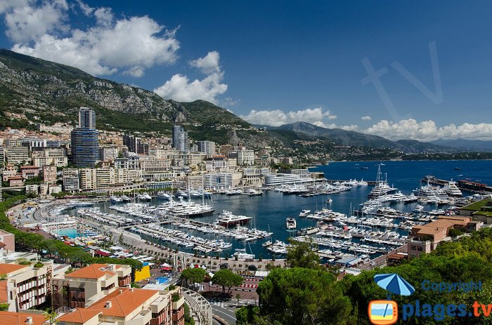 Overall view of Monaco - France