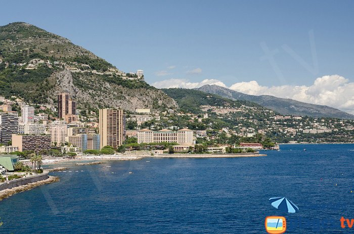 Coast of Monaco and Roquebrune Cap Martin