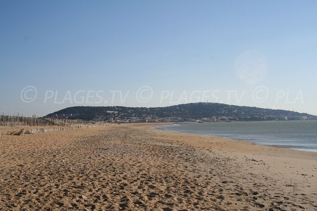 Mont Saint Clair à Sète depuis une plage
