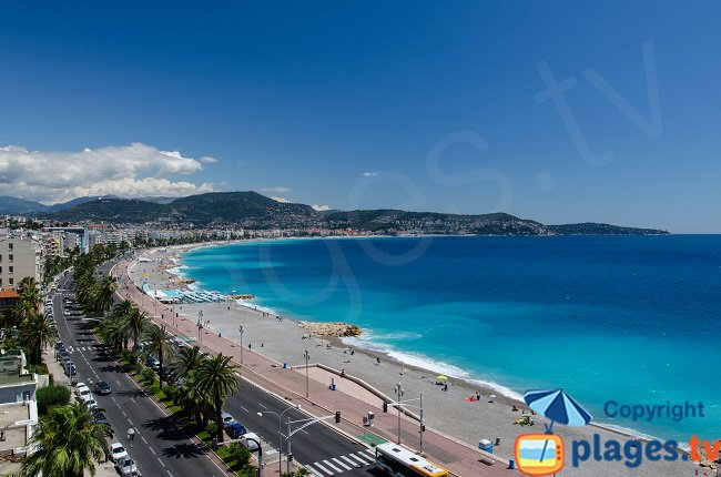 Seafront of Nice in France