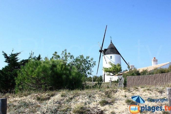 The mill of La Bosse at the Epine Beach - Noirmoutier