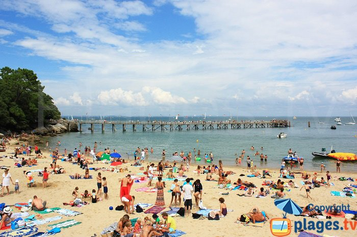 Ponton des Dames et la plage - Noirmoutier