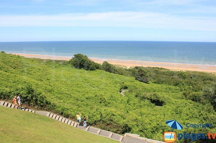 Omeha Beach depuis le cimetière américain - Normandie