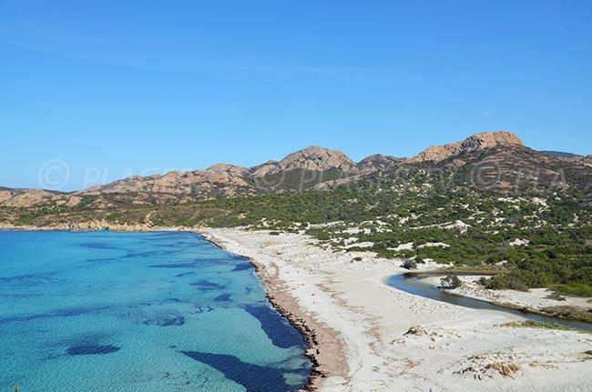 Ostriconi beach in Agriates desert