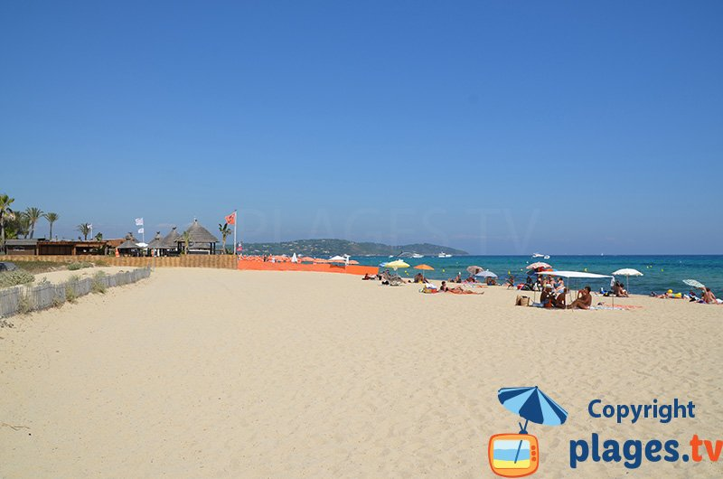 Plage gratuite de Pampelonne à St Tropez