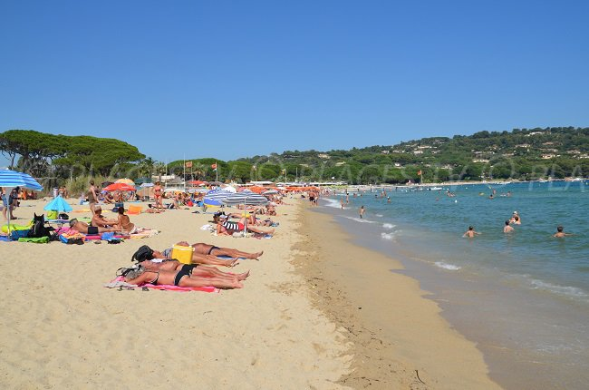 Pampelonne beach in summer (France)