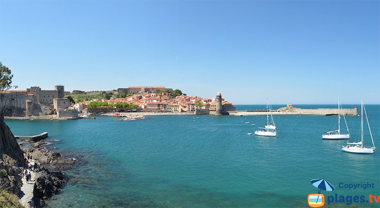 Collioure Bay in France