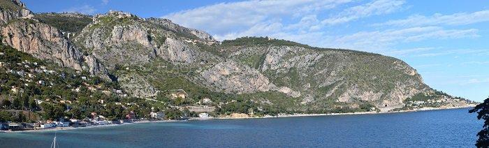 Panorama der Bucht von Eze