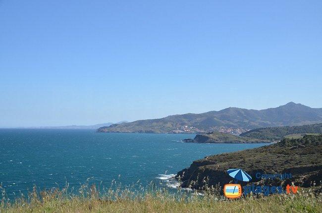 Vista sulla Costa Vermiglia dal Cap Béar verso la Spagna