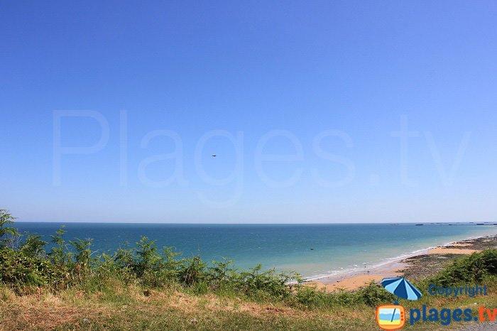 Panorama sur les plages du Débarquement depuis Longues sur Mer