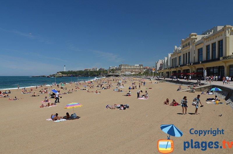 La plage du Casino à Biarritz