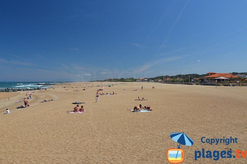 La grande plage de sable d'Anglet