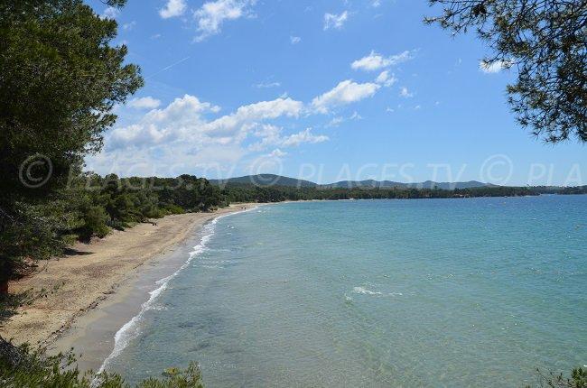 Pellegrin beach in La Londe les Maures and Bormes les Mimosas