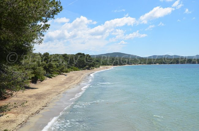 Pellegrin beach in France in Var department