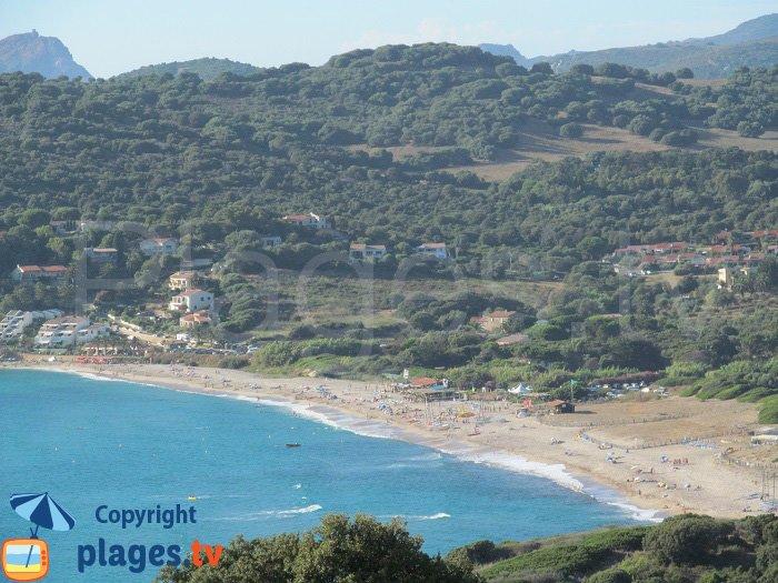 La plage de Péro à Cargèse