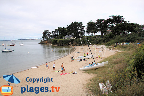 Photo de la plage de Kervoyal à Damgan