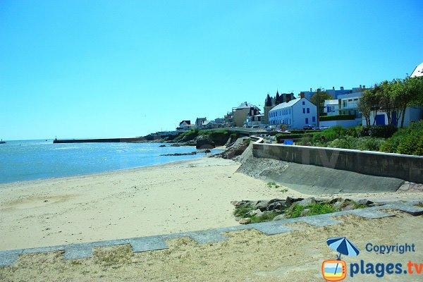 Petite plage de Saint Gilles Croix de Vie en regardant vers le nord