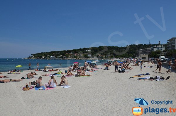 Photo of the Salis beach in Antibes