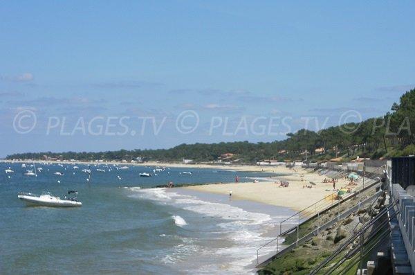 Pilat beach and view on Arcachon beaches