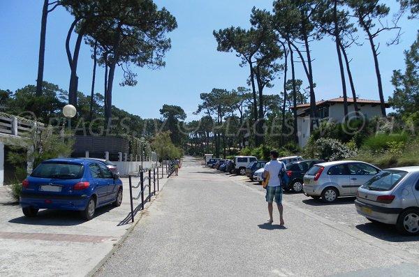 Parking of Pilat-Plage