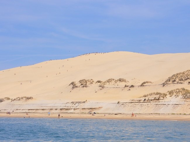 Dune of Pilat from the sea - France