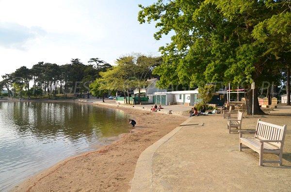 Environnement de la plage de la piscine de Vannes