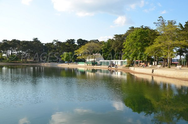 Seawater Pool of Conleau in Vannes in France