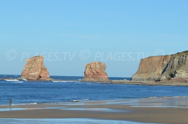 2 Jumeaux beach in Hendaye in France