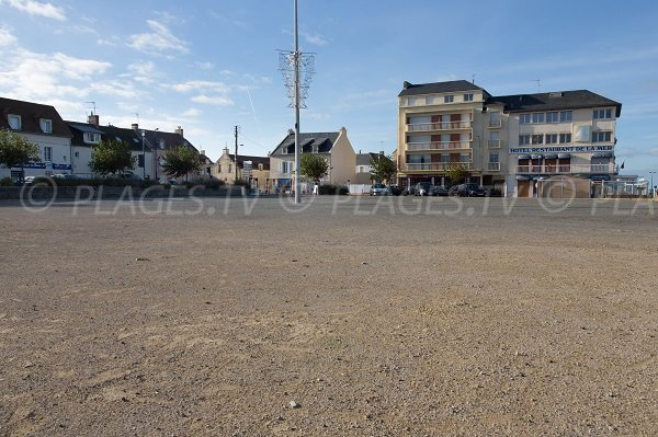 Parking de la plage de Langrune sur Mer