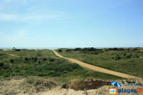 Sentier d'accès à la plage des 60 Bornes